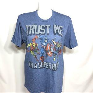Marvel Comics Trust Me I'm A Superhero Shirt XL